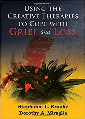 Cover image of the book Using the Creative Therapies to Cope with Grief and Loss. Links to an outside page where the book can be purchased